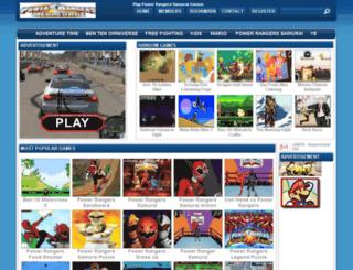 powerrangerssamuraigames.org screenshot