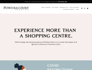 powerscourtcentre.ie screenshot