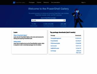 powershellgallery.com screenshot