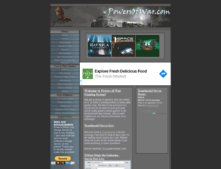 powersofwar.com screenshot