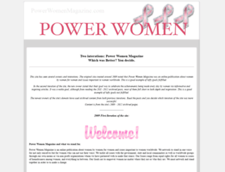 powerwomenmagazine.com screenshot