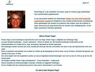 poweryoga.nl screenshot