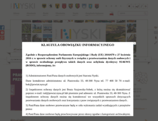 powiat.nysa.pl screenshot