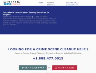 poynor-texas.crimescenecleanupservices.com screenshot