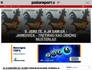 pozareport.si screenshot