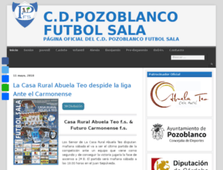 pozoblancofutbolsala.es screenshot