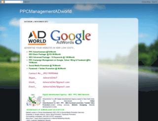 ppcmanagementadworld.blogspot.in screenshot