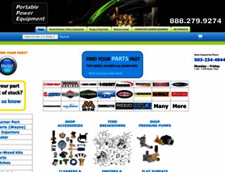 ppe-pressure-washer-parts.com screenshot