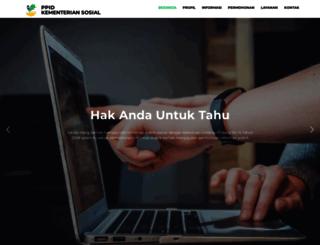 ppid.kemsos.go.id screenshot