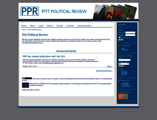 ppr.pitt.edu screenshot