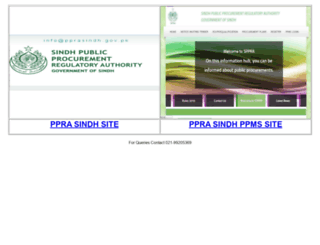pprasindh.gov.pk screenshot
