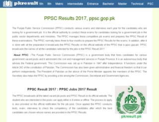 ppsc.pkresult.pk screenshot