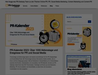 pr.pr-gateway.de screenshot