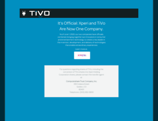 pr.tivo.com screenshot
