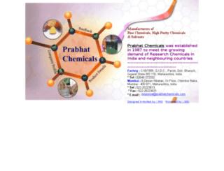 prabhatchemicals.com screenshot