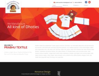 prabhutextile.com screenshot