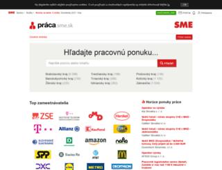 praca.sme.sk screenshot