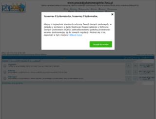 pracedyplomoweopinie.fora.pl screenshot