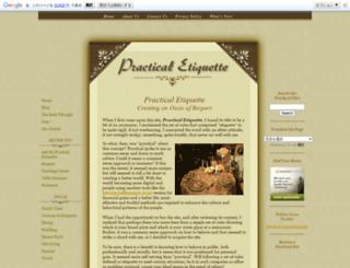 practicaletiquette.com screenshot