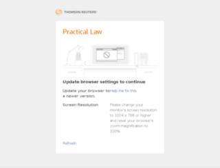 practicallaw.com screenshot