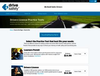 practicetest.idrivesafely.com screenshot