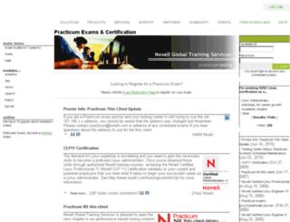 practicum.novell.com screenshot