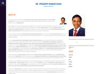 pradeepsahu.com screenshot