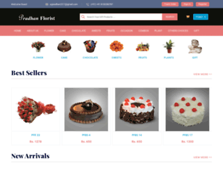 pradhanflorist.com screenshot