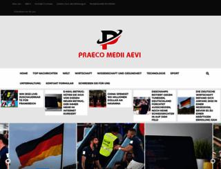 praeco-medii-aevi.de screenshot