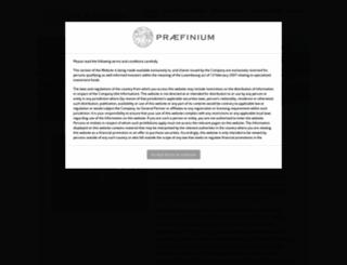 praefinium.com screenshot