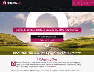 pragencyone.co.uk screenshot