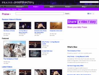 praise.proofdirectory.com screenshot
