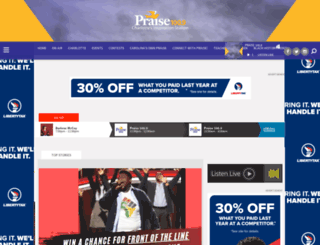 praise1009fm.com screenshot