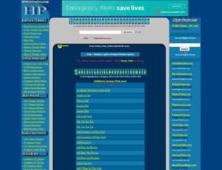 praiselyrics.com screenshot