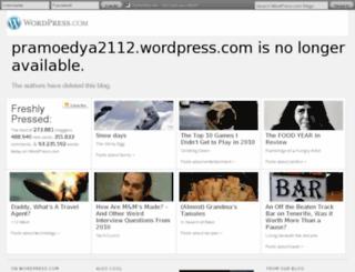 pramoedya2112.wordpress.com screenshot