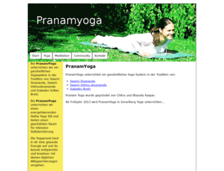 pranamyoga.at screenshot