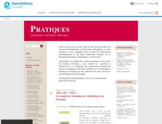 pratiques.revues.org screenshot
