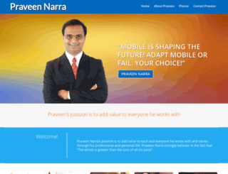 praveen.com screenshot