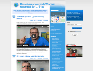 prawo-jazdy.zwolnienielekarskie.pl screenshot