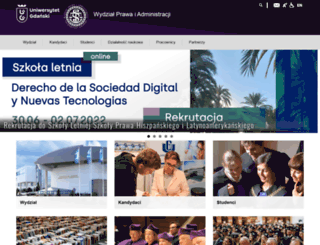 prawo.ug.edu.pl screenshot