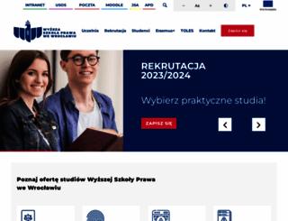 prawowroclaw.edu.pl screenshot