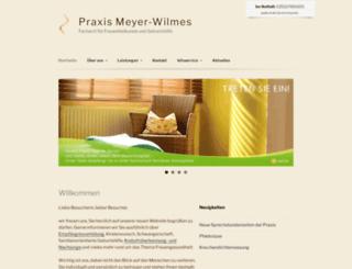 praxis-meyer-wilmes.de screenshot