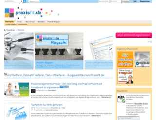 praxisfit.de screenshot