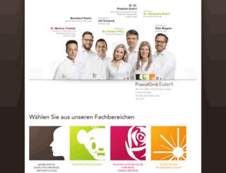 praxisklinik-eulert.de screenshot