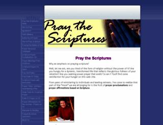 pray-the-scriptures.com screenshot