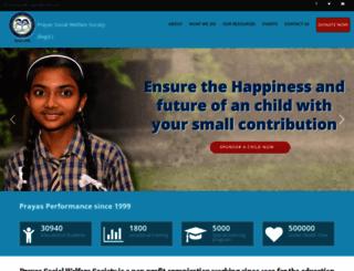 prayassws.org screenshot