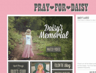 prayfordaisy.com screenshot