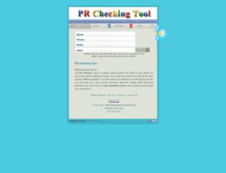 prcheckingtool.com screenshot