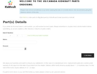 prdparts.kidkraft.com screenshot