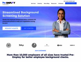 pre-employ.com screenshot